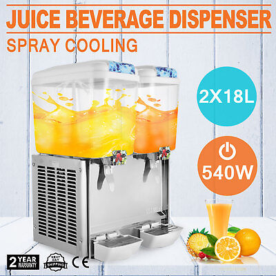 9.5 Gallon Juice Beverage Dispenser Cold Drink Jet Spray Vertical Spray 540W