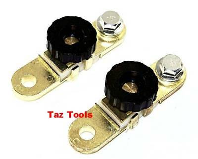 2 pcs Battery Link Terminal Quick Cut-off Disconnect  Kill Shut Switch Side Post