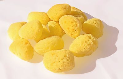 "2x Finest Greek Fina Silk Soft Sea Sponge - Baby Bath & Body Adults Face 3""-3.5"""
