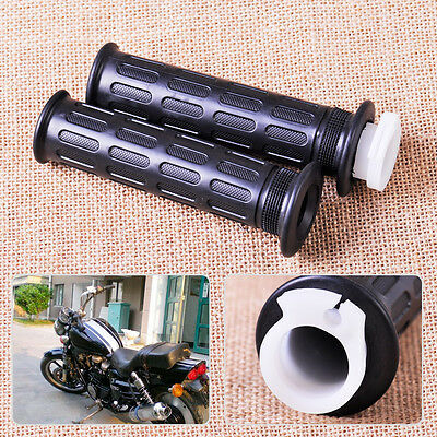 "Pair 7/8"" Throttle Handle Bar Twist Hand Grips Motorcycle ATV Scooter Dirt Bike"