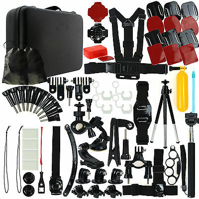 77in1 Pole Head Chest Mount f. GoPro Hero 1 2 3 4 Camera Accessories Set Kit