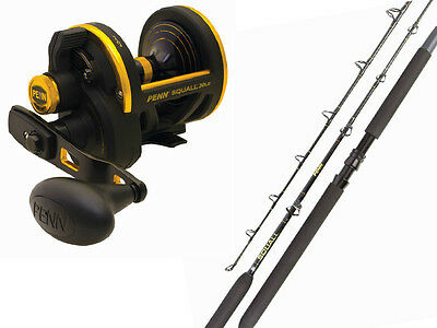 "PENN Squall Fishing Rod and Reel 561H Combo 5'6"" 15-24kg Squall 60LDLH Left Hand"