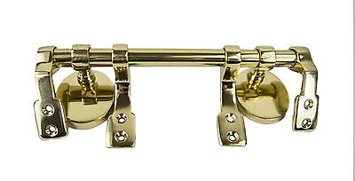 Polished Brass Toilet Seat Hinges With Bar - Supplied With Fixing Kit