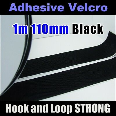 Black (110mm×1M)  Self Adhesive backing Hook & Loop Strong Sticky Back Fastener