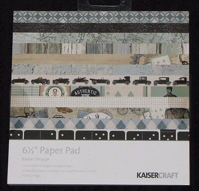 "Kaisercraft 'BARBER SHOPPE' 6.5"" Paper Pad Men's/Father's Day *NEW* KAISER"