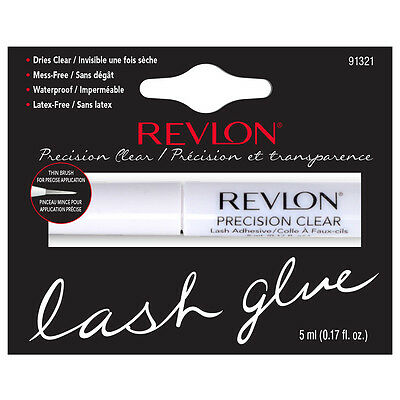 Revlon Precision Eyelash Glue Brush-On Lash Adhesive - WHITE / CLEAR