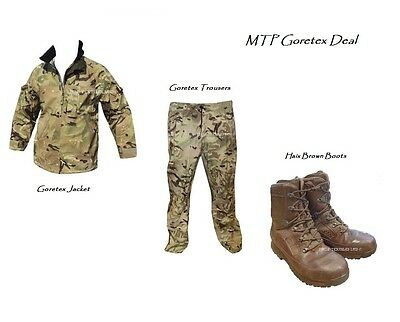 MTP LIGHTWEIGHT Goretex JACKET & TROUSERS + HAIX Brown Boots - British Army USED