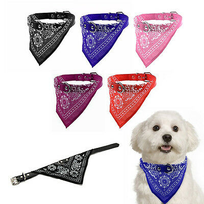 Dog Puppy Pet Adjustable Patterned Neck Scarf Bandana Collar Neckerchief