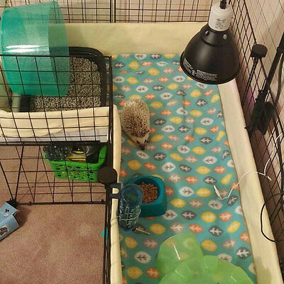 Fleece cage liner midwest 24x48 cage 2 layers of fleece with uhual guinea pig