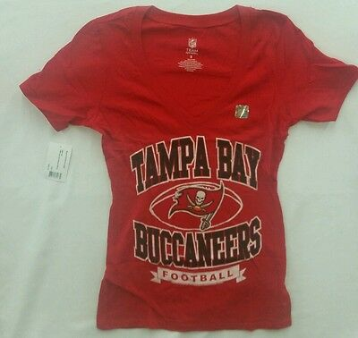 cd5887c4 WOMENS TAMPA BAY Buccaneers Nike V-Neck Shirt Pirate Flag Size Large ...