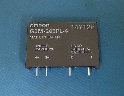 x1 **NEW** Omron G3M-205PL-4DC24 , Solid State Relay 24VDC , ROHS