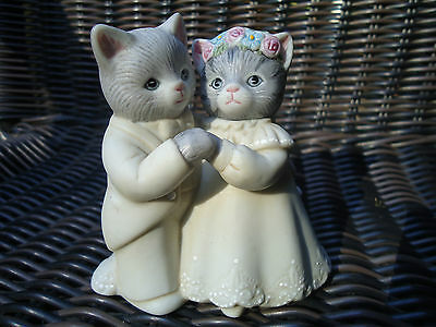 Vintage Schmid Kitty Cucumber Bride And Groom Couple 1987