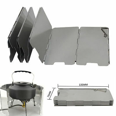 9 Plates Foldable Burner Windshield for Outdoor Camping Cooking Wind Shield