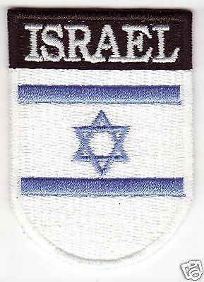 ISRAEL Country Flag Patch Shield Style