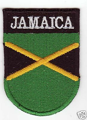 JAMAICA Country Flag Patch Shield Style Jamaican
