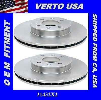 Front  fits 94-04 Ford Mustang   54011X2 Verto USA Set Of 2 Disc Brake Rotors