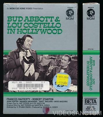 Comedy Beta Not Vhs Bud Abbott Lou Costello In Hollywood 1945 Mgm Factory Sealed