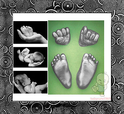 DIY 3D Casting Kit Baby Keepsake & Shadowbox photo frame  #2BY