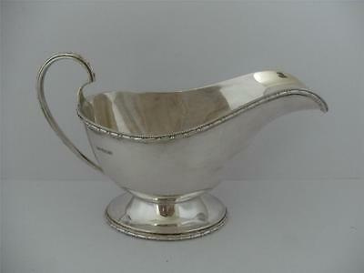 Beautiful Sterling Silver SAUCE GRAVY BOAT Sheffield 1937 Walker & Hall