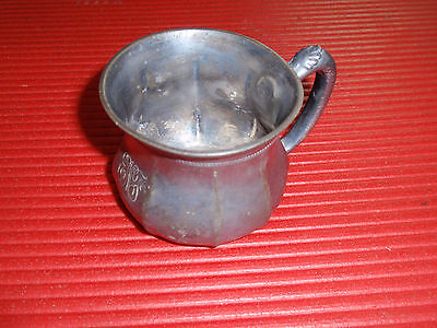 Antique Quadruple Plated Cup With Handle Colonial Silver Company