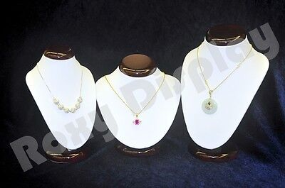 Classic 3 Neck Forms Set With wooden top and bases #JW-RW-N1+N2 +N3
