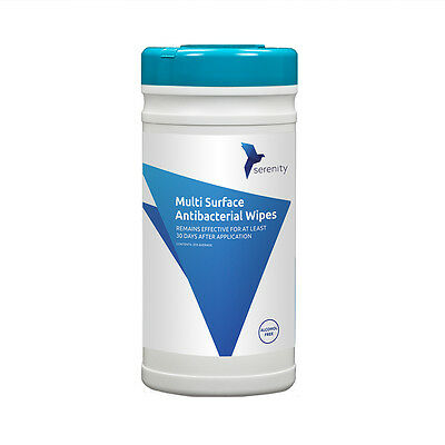 Alcohol Free Antibacterial Surface Wipes - Kills Norovirus, protects for 30 days