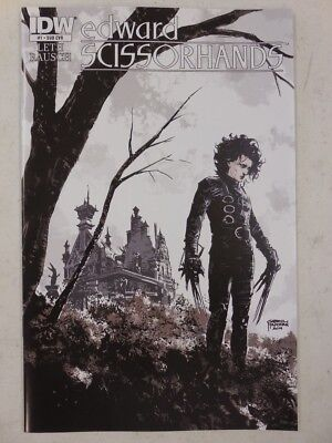 FIRST ISSUE Tim Burton EDWARD SCISSORHANDS #1 COMIC BOOK Variant Cover IDW NBX