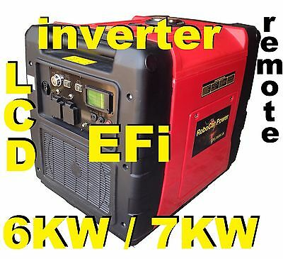 NEW EFi MODEL 7 KW MAX 6 KW RATED INVERTER PURE SINE WAVE REMOTE START LCD