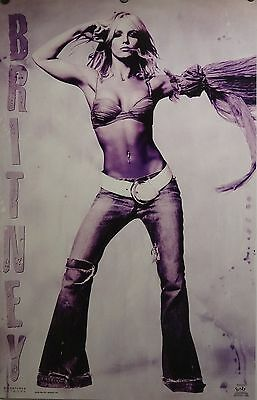Britney Spears 23x35 Sexy Purple Tinted Poster 2002