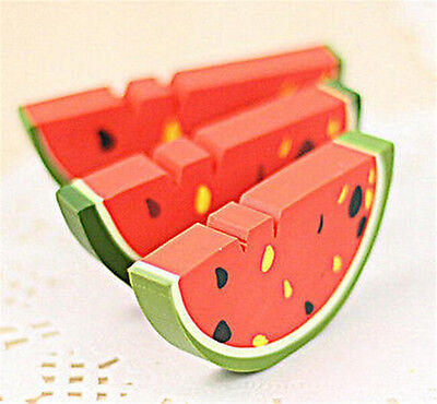 FD3869 Creative Watermelon Eraser Rubber Pencil Stationery Child Gift Toy 1pc ♫