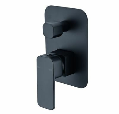 Watermark Black square new rounded shower brass  Mixer with diverter Tap faucet