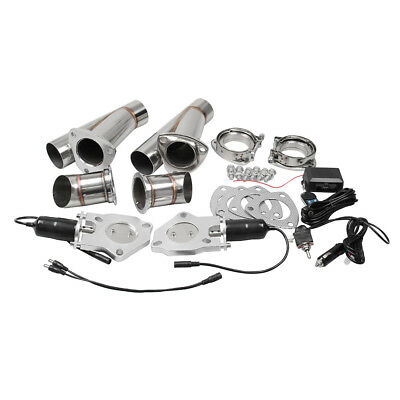 """2X 2.5"""" Electric Exhaust Catback Downpipe Valve Cutout  Dump Manually&Remote"""