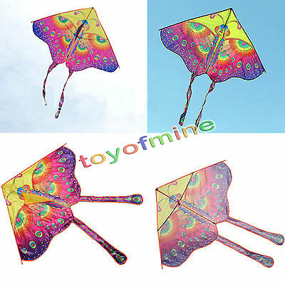 Outdoor Butterfly Kite  Toy Long Tail Colorful Printed