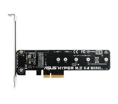 Asus Hyper M.2 x 4 MINI M.2 Interface PCIe Adapter for Z170 H170 X99 Z97 H97 B85