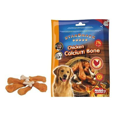 NOBBY Snack poulet os calcium pour chien 375g