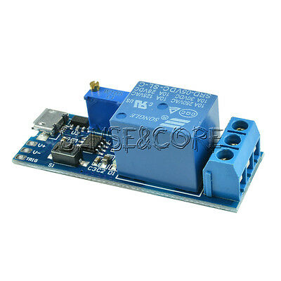 5V -30V Micro USB Power Relay Timer Control Module Trigger Delay Switch
