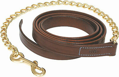 Walsh Leather Lead with 24inch Solid Brass Chain