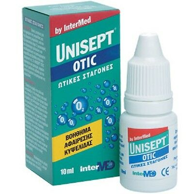 UNISEPT Otic FLx10ml Ear drops for the removal of the cuvette, 10ml