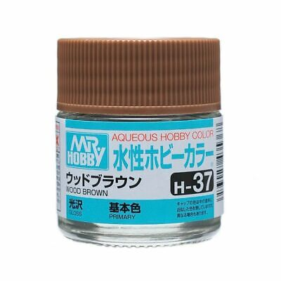 MR HOBBY GUNZE AQUEOUS COLOR ACRYLIC H37 Wood Brown MODEL PAINT 10ml New US