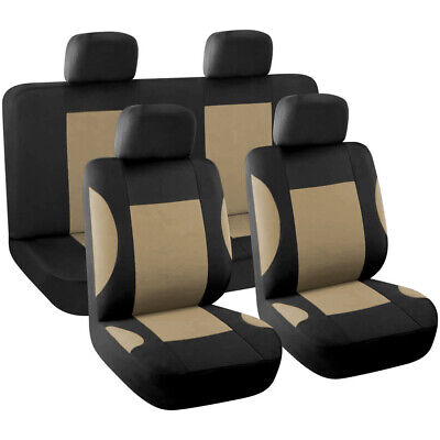 New 8pcs Styling Auto Interior Accessories Car Seat Cover full set Beige