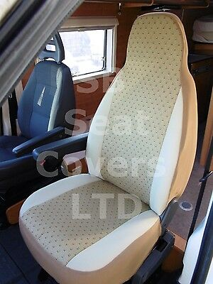 To Fit A Peugeot Boxer Motorhome, 2007, Seat Covers, Kashmir Gold, 2 Fronts
