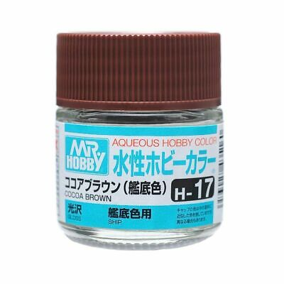 MR HOBBY GUNZE AQUEOUS COLOR ACRYLIC H17 COCOA BROWN OLD MODEL PAINT 10ml US