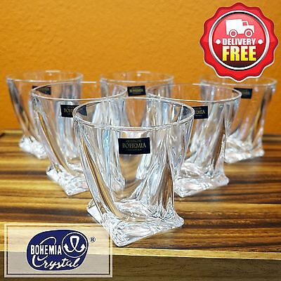 Bohemia Crystal (242.025) Quadro Old Fashion Tumbler Set 6pcs Whisky Glass