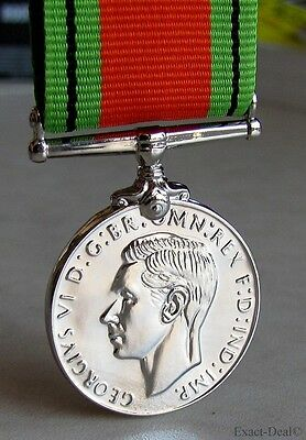 British & Commonwealth The Defence Medal King George VI 1939 - 1945  WW2  WWII