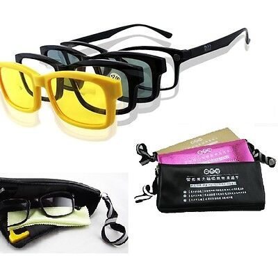 4 in 1 Magnetic reading glasses Sunglasses Night Vision reading glasses Clip on