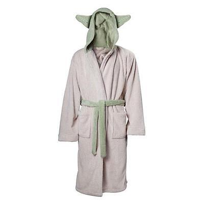 Star Wars - Yoda Hooded Fleece Bathrobe - New & Official Lucasfilm Ltd With Tags