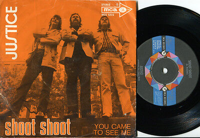 """JUSTICE - Shoot Shoot / You Came To See Me 7"""" Dutch 1971 POWERPOP PSYCH RARE PS"""