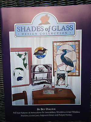 Shades of Glass Stained Glass Design Pattern Book by Bev Diaczuk Unused Uncut