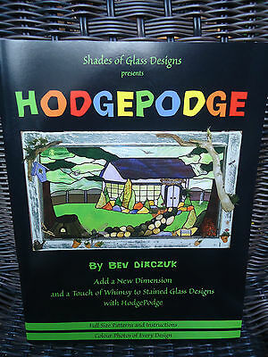 HodgePodge Shades of Glass Stained Glass Designs  by Bev Diaczuk Unused Uncut