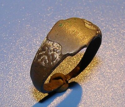Ancient bronze BIG ring  Middle Ages original
